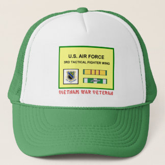 3RD TACTICAL FIGHTER WING VIETNAM WAR VET TRUCKER HAT