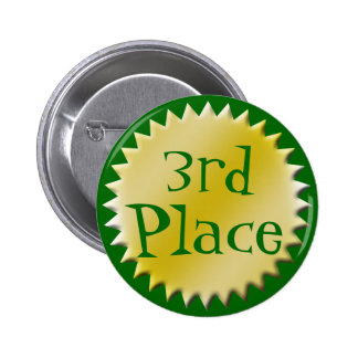 3rd Third Place Award Button, Customizable 2 Inch Round Button