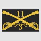 3rd Troop 11th Cavalry Regiment Rectangular Sticker