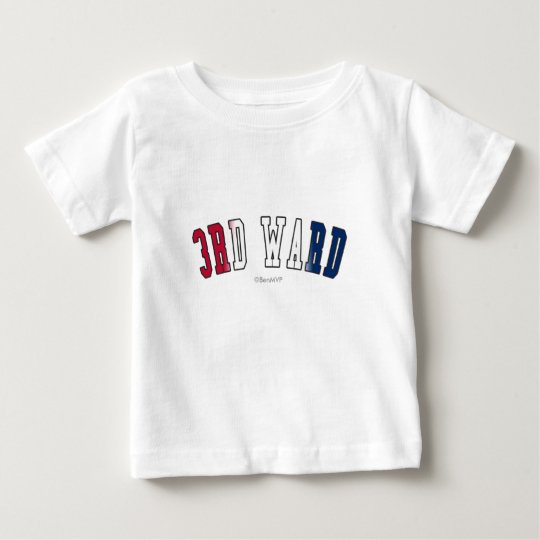 3rd Ward in Texas state flag colors Baby T-Shirt