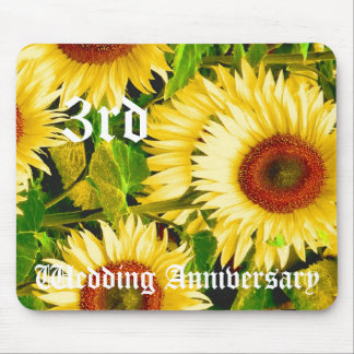 3rd wedding anniversary - Sunflower Mouse Pad
