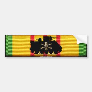 3ro 11ma pista del ACR de las escuadrillas en cint Etiqueta De Parachoque