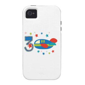 3ro Aeroplano del cumpleaños Case-Mate iPhone 4 Carcasas