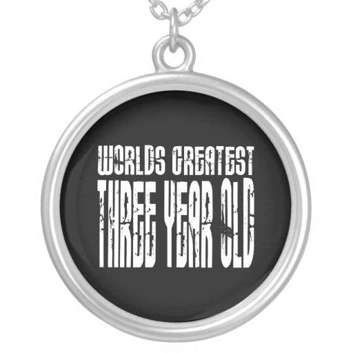 3ro Años más grandes de los mundos de la fiesta de Collar Personalizado