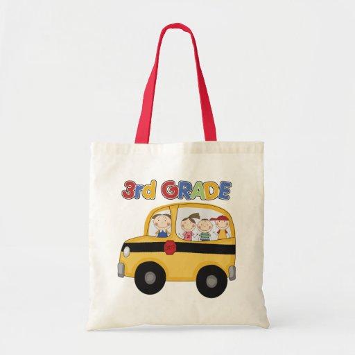 3ro Autobús de escuela primaria Bolsas Lienzo