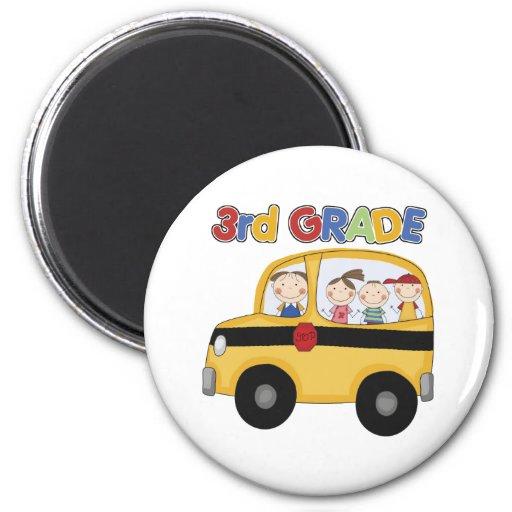 3ro Autobús de escuela primaria Imán Para Frigorifico