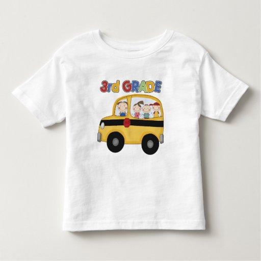 3ro Autobús de escuela primaria Playera De Bebé