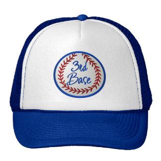 3ro Base y béisbol Gorro