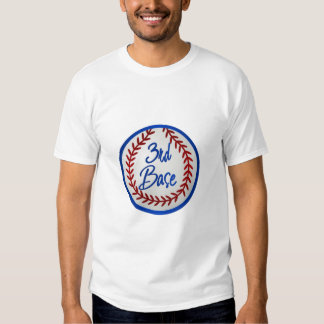 3ro Base y béisbol Polera