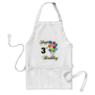 3ro Bbq del cumpleaños y delantal felices de la co