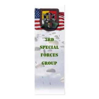 3ro bookmarker del grupo de las boinas verdes de tarjetas de visita mini