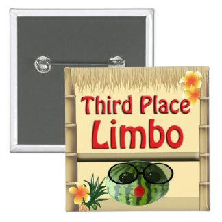 3ro botón del limbo del lugar del fiesta de la cho pin cuadrado