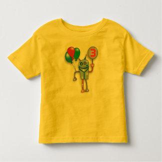 3ro Camisa brillante linda del niño del robot de