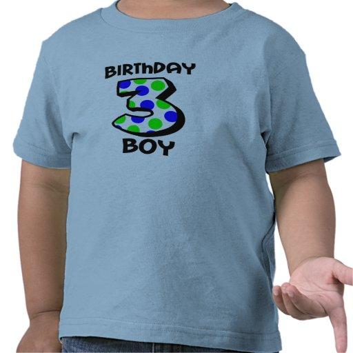 3ro Camisa del muchacho del cumpleaños