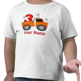 3ro Camiseta personalizada camión del cumpleaños