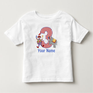 3ro Camiseta personalizada circo del cumpleaños