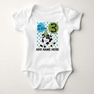 3ro camiseta personalizada del cumpleaños de la