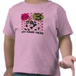 3ro camiseta personalizada del cumpleaños de la va