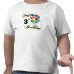 3ro camisetas del cumpleaños y ropa felices del cu