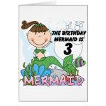 3ro camisetas y regalos del cumpleaños de la siren tarjetas