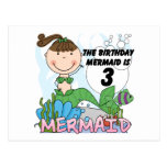 3ro camisetas y regalos del cumpleaños de la siren postales