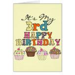 3ro camisetas y regalos del cumpleaños de las magd tarjetas