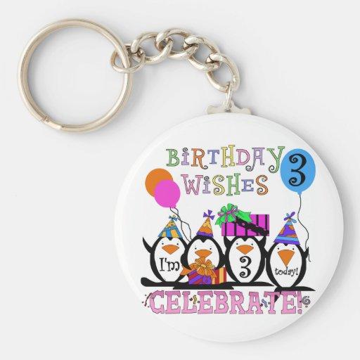 3ro camisetas y regalos del cumpleaños de los ping llavero personalizado