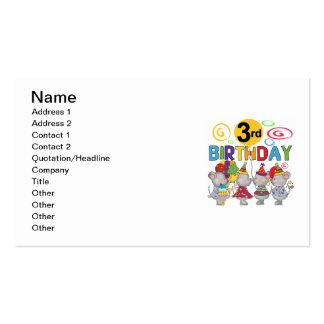 3ro camisetas y regalos del cumpleaños de los tarjetas de visita