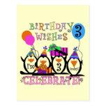 3ro camisetas y regalos del cumpleaños de los postal