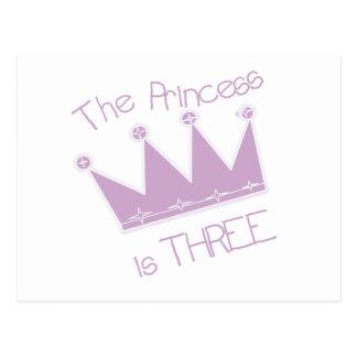 3ro camisetas y regalos del cumpleaños de princesa tarjeta postal
