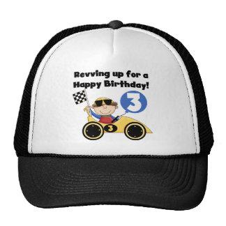 3ro camisetas y regalos del cumpleaños del coche d gorra