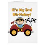 3ro camisetas y regalos del cumpleaños del coche d tarjetas