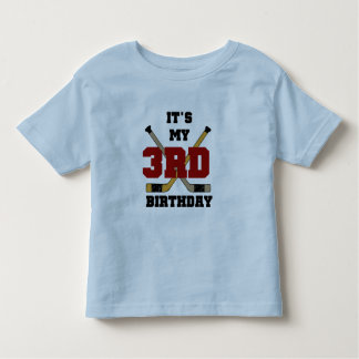 3ro camisetas y regalos del cumpleaños del hockey camisas