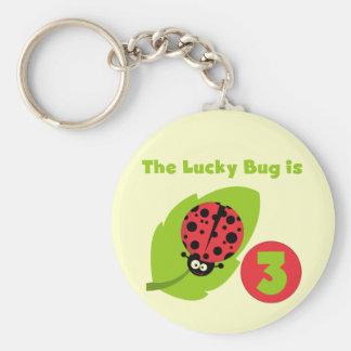 3ro camisetas y regalos del cumpleaños del insecto llavero redondo tipo pin