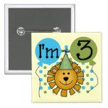 3ro camisetas y regalos del cumpleaños del león pins