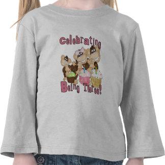 3ro camisetas y regalos del cumpleaños del mono ro