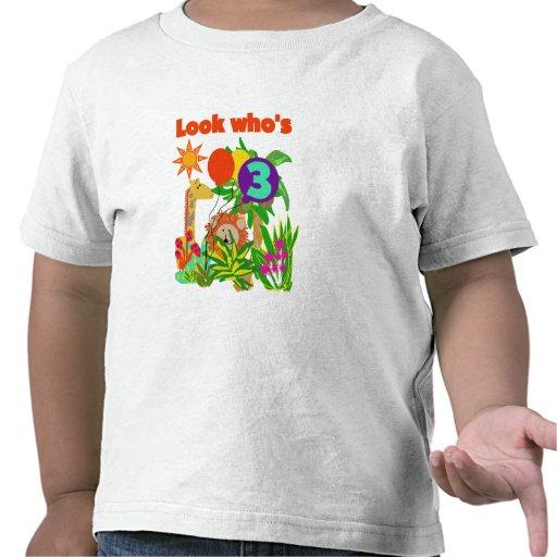3ro camisetas y regalos del cumpleaños del safari