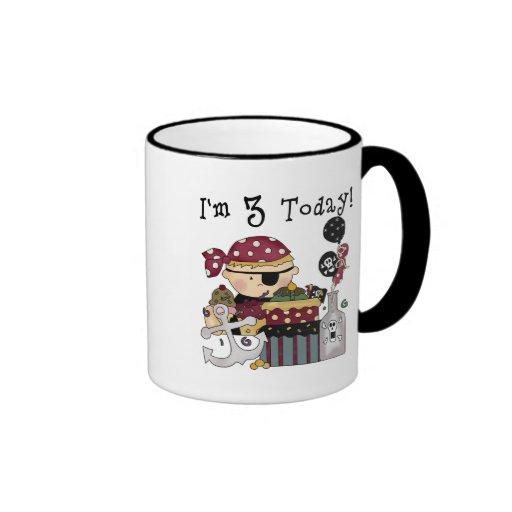 3ro Camisetas y regalos del pirata del cumpleaños Taza De Café