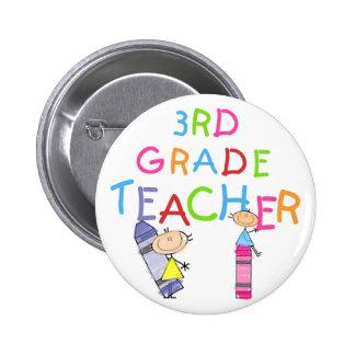 3ro camisetas y regalos del profesor del grado de  pins