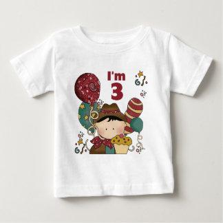 3ro Camisetas y regalos del vaquero del cumpleaños