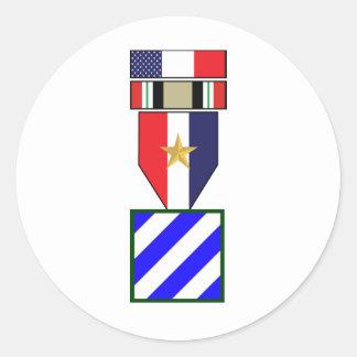 3ro Campaña de la guerra de Iraq de la división de Pegatina Redonda