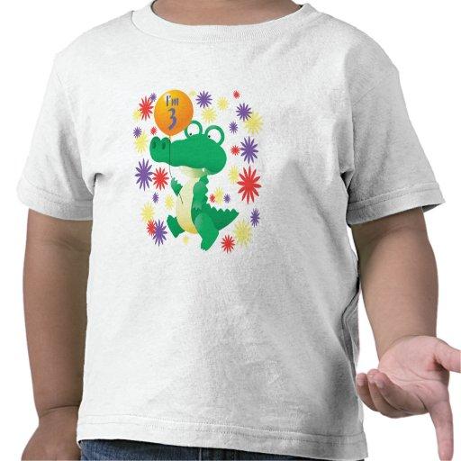 3ro Cocodrilo del cumpleaños Camiseta