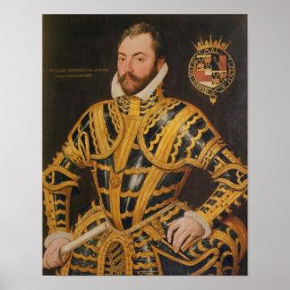 3ro conde de Guillermo Somerset de Worcester Póster