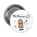 3ro cumpleaños camisetas y regalos de la princesa pin