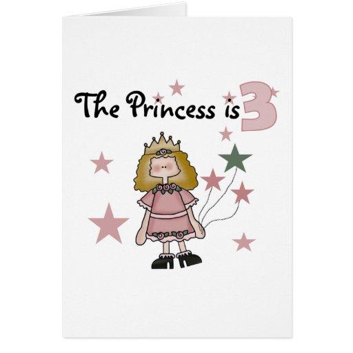 3ro cumpleaños camisetas y regalos de la princesa felicitacion