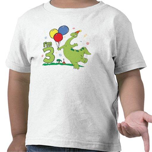 3ro cumpleaños de Dino Camiseta