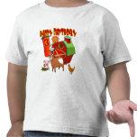 3ro Cumpleaños de la granja del cumpleaños Camiseta
