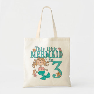 3ro cumpleaños de la sirena bolsa tela barata