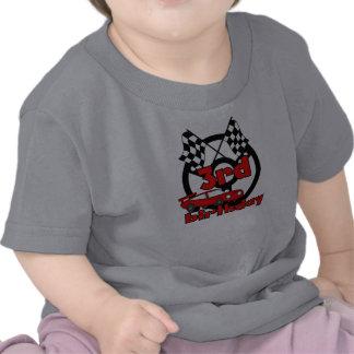 3ro cumpleaños de las carreras de coches camisetas