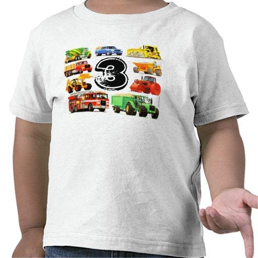 3ro cumpleaños de los camiones grandes camiseta